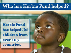 Who has Herbie Fund Helped? Herbie Fund has saved 657 chilren from over 101 countries.